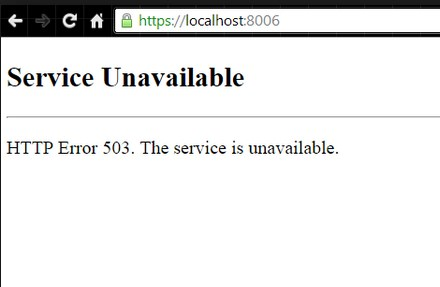 Ошибка 503 the service is unavailable