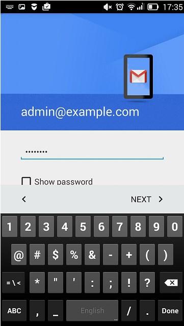 Настройка почты на Android
