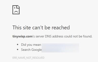 Белая страница ошибки, вместо сайта